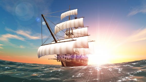 帆前船|トロフィー・優勝カップ・メダルならトロフィー生活